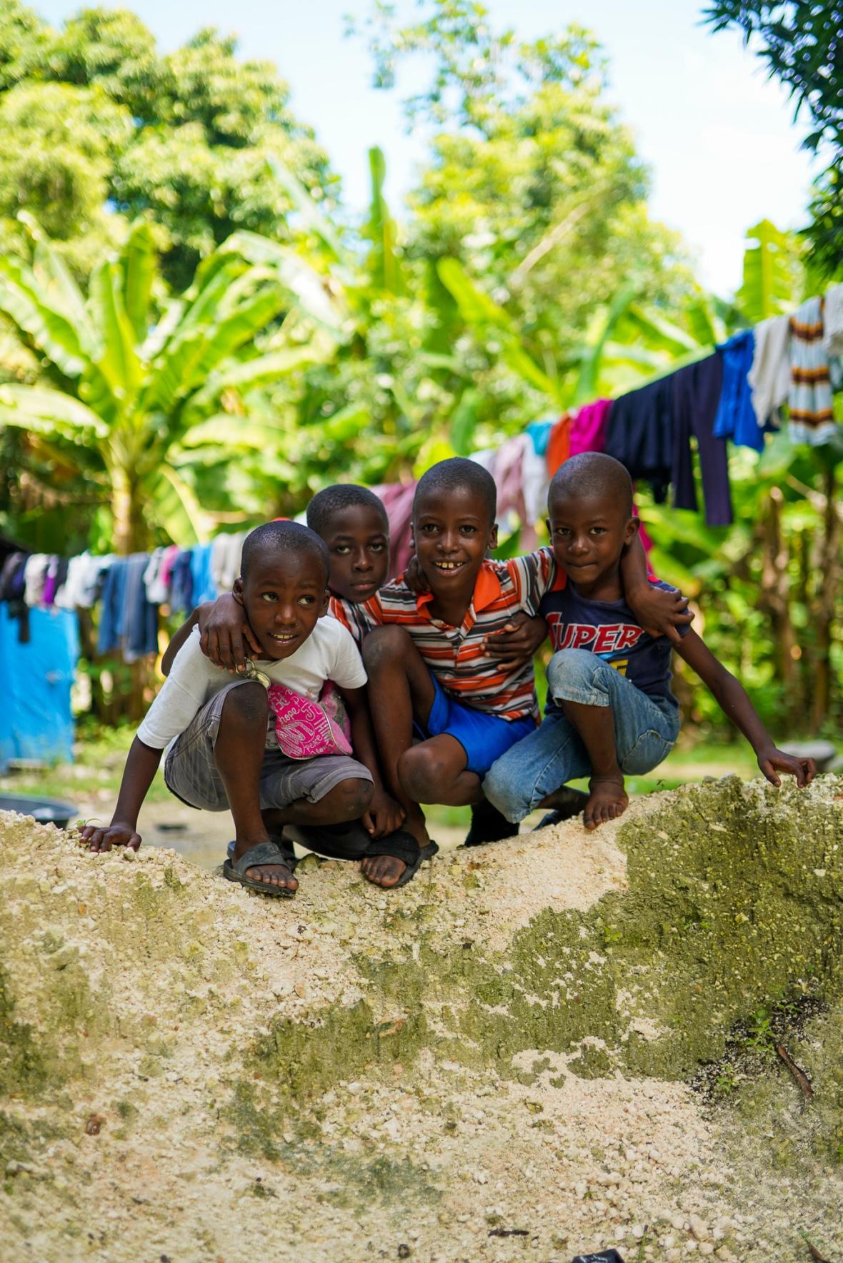 4 Haitain Boys Group Photo