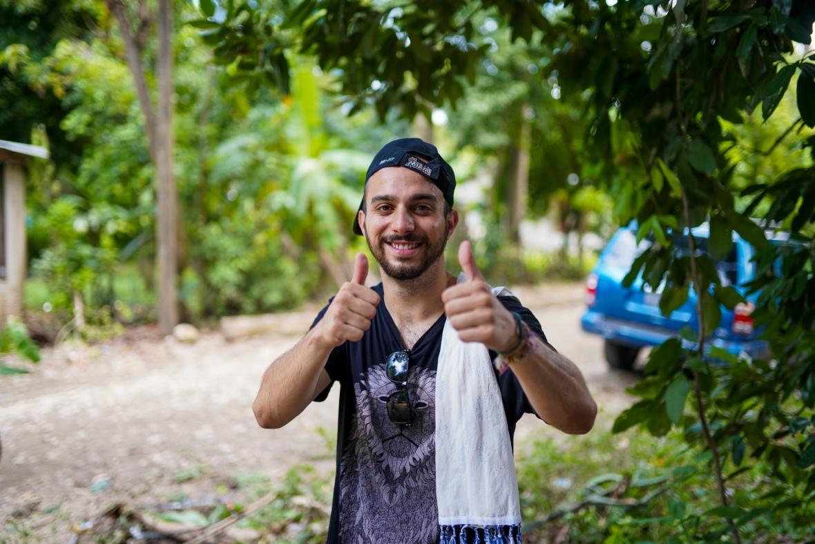 Esteban Thumbs Up HBC