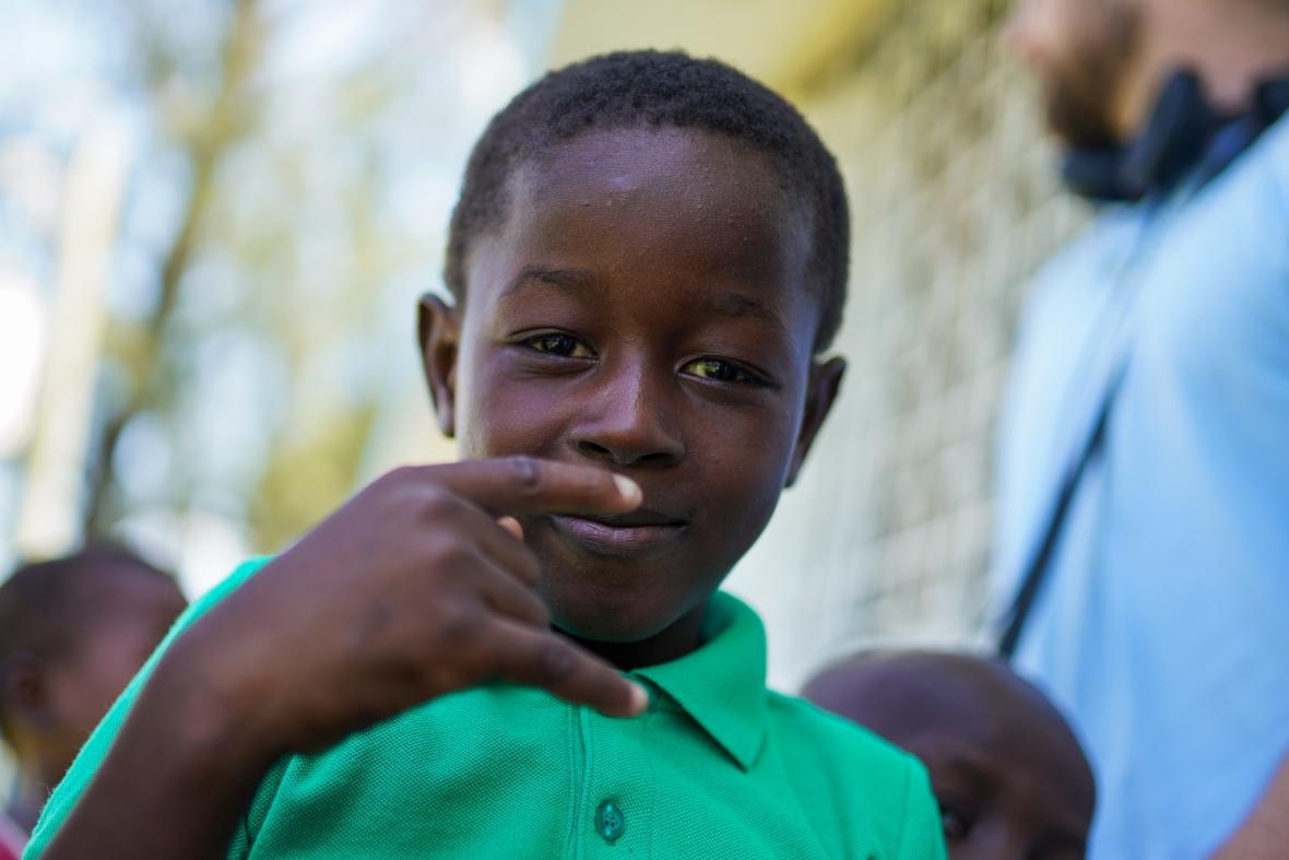 Orphan Boy In Green